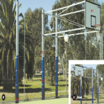 Basketball Backboard - Two Uprights, Side Swinging
