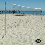 Volleyball Post, Net and Pegs - Outdoor