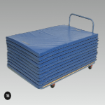 Mat Trolley - Castor Wheels, 2400 x 1200mm