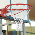 Basketball Ring - Snap-Down with Bolts and Net