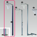 Aluminium Netball Post and Net - for socket (Qty 1)