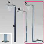 Netball Post, Net and Floor Plate (Qty 1)