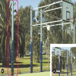 Upright with Storage Lock for Basketball B/board, Side Swinging