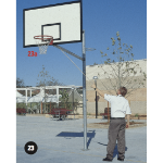 Basketball B/board 1 Upright & Socket, Rev. Max C/lever 2400mm