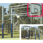 Basketball Backboard, Ring and Net - Outdoor