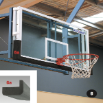 Basketball Glass Backboard and Frame with Snap-Down Ring