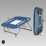 Mini Trampolines with Safety Bed