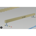 Balance Beam with 250mm high legs